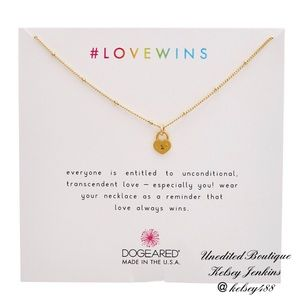 NWT - DOGEARED Love Wins Necklace